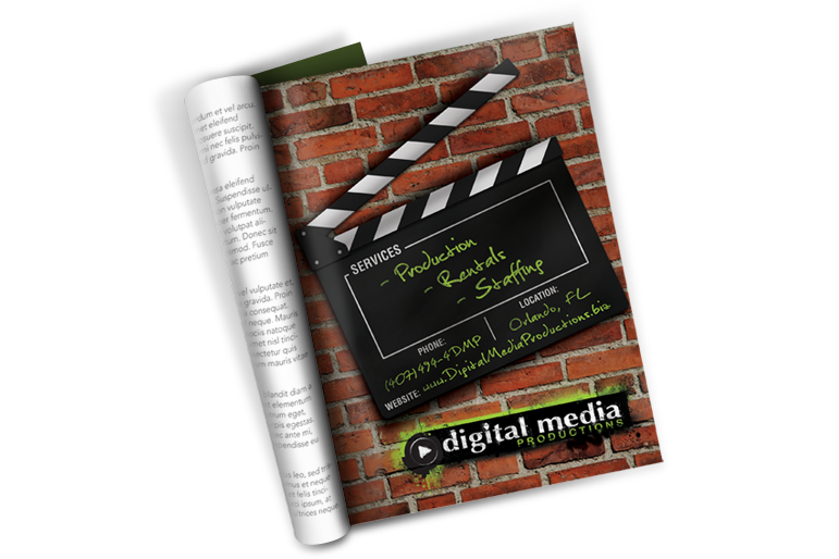 Trade publication Ad for Digital Media Productions