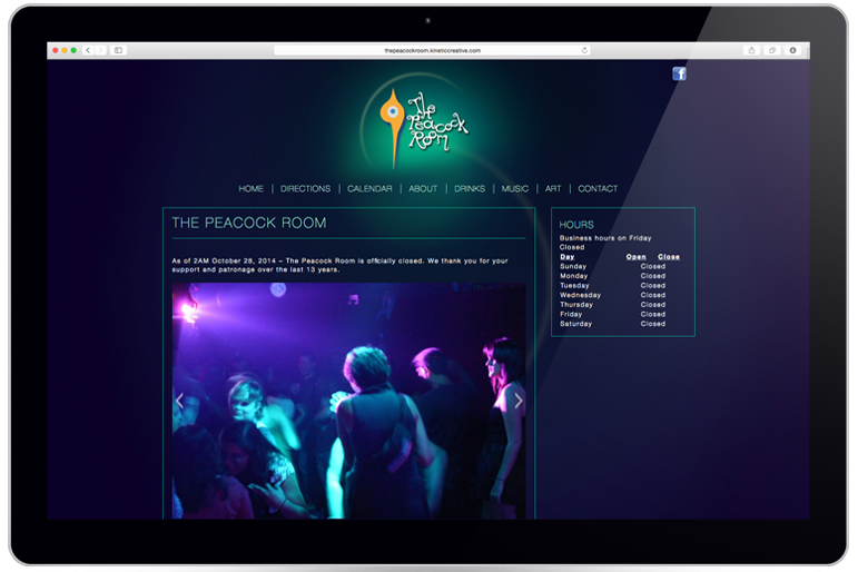 The Peacock Room Website