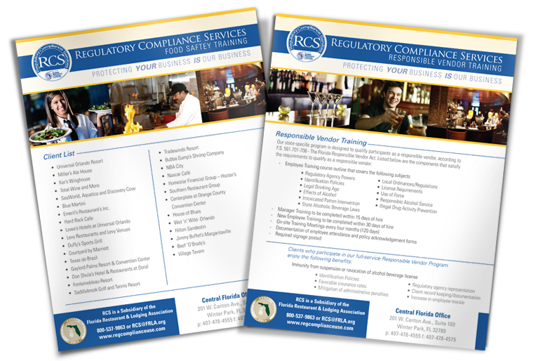 Flyer for The Florida Restaurant and Lodging Association