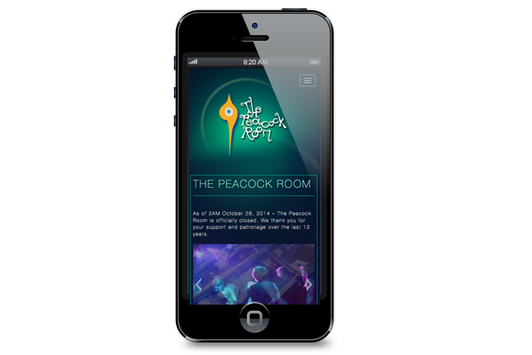 The Peacock Room Mobile Website