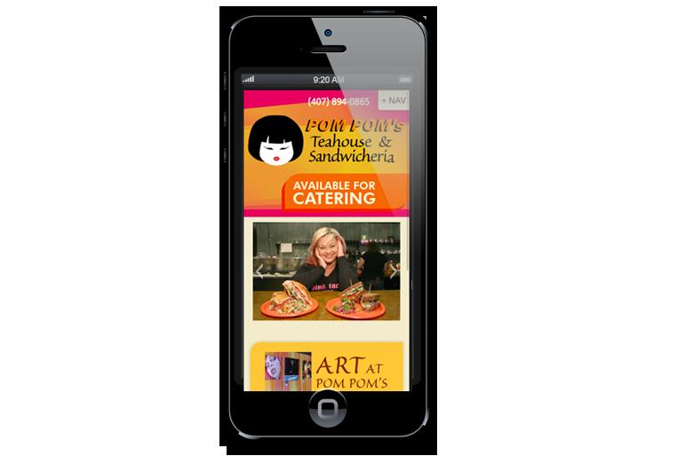 Pom Pom's Mobile Website